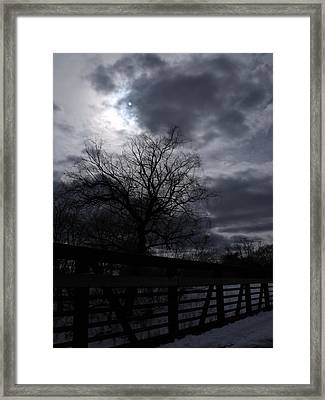Behind The Clouds 4 Framed Print