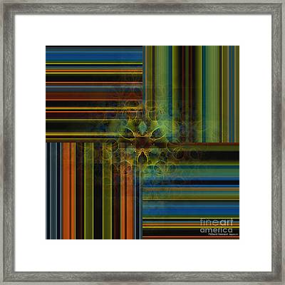 Behind The Drapes 2 Framed Print