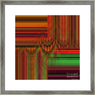 Behind The Drapes Framed Print