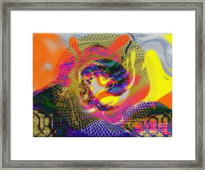 Behind The Fence Framed Print by Kathie Chicoine
