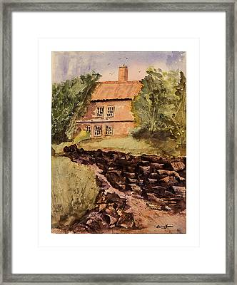 Behind The House Framed Print by Barry Jones