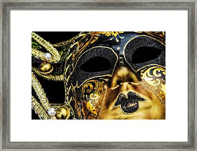 Behind The Mask Framed Print by Carolyn Marshall