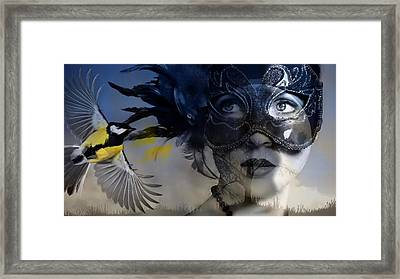 Behind The Mask Framed Print