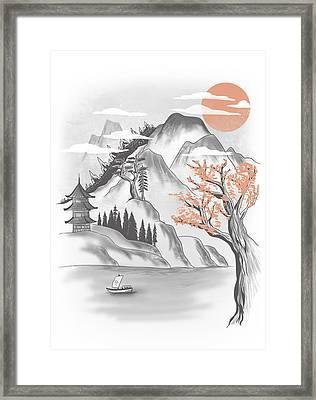 Behind The Mountain Framed Print by Anggrahito Pramono
