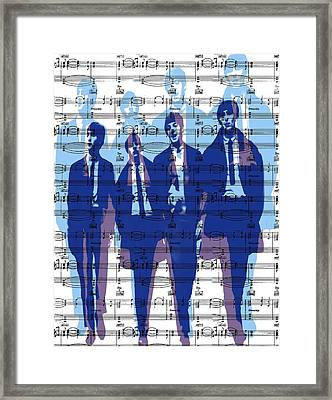 Behind The Music Framed Print by Maz