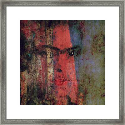 Behind The Painted Smile Framed Print by Paul Lovering