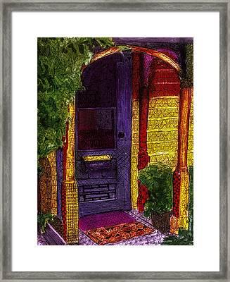 Behind The Purple Door Framed Print by Jo-Anne Gazo-McKim