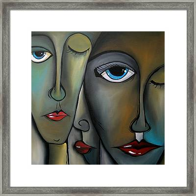 Behind The Scenes - Abstract Pop Art By Fidostudio Framed Print