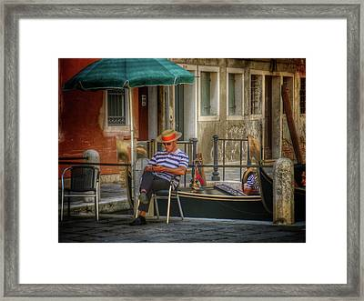 Behind The Scenes Framed Print by Connie Handscomb