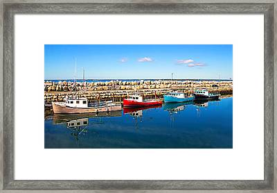 Behind The Sea Wall Framed Print by Carolyn Derstine