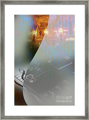 Framed Print featuring the painting Behind The Vail by Allison Ashton