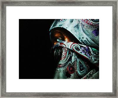 Behind The Veil Framed Print by Richard Klingbeil