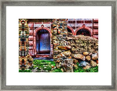 Behind The Wall Framed Print by Milan Karadzic