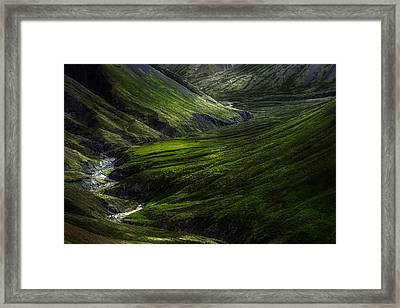 Behind The Wallpaper Framed Print by Kaspars Dzenis