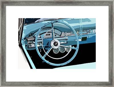 Behind The Wheel Framed Print by David Lee Thompson