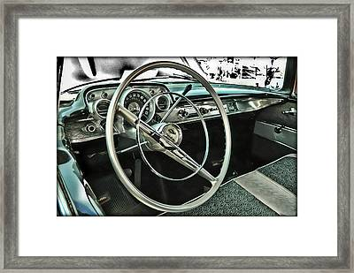 Behind The Wheel Framed Print by Victor Montgomery