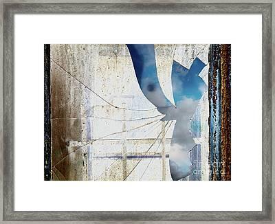 Behind The Window Framed Print by Michal Boubin