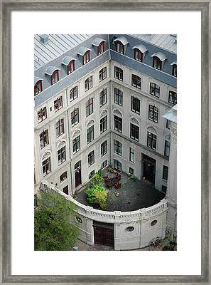 Behind Walls-a Table In Copenhagen Framed Print by Mary Lee Dereske