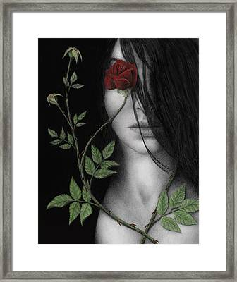 Behind What Beholds The Eye Framed Print by Pat Erickson