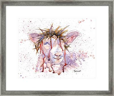 Behold The Lamb Framed Print by Marsha Elliott