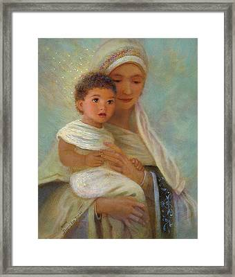 Behold The Light Framed Print by Nancy Lee Moran