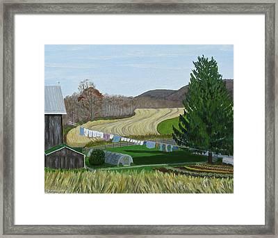 Beiler's View Of Egg Hill Framed Print