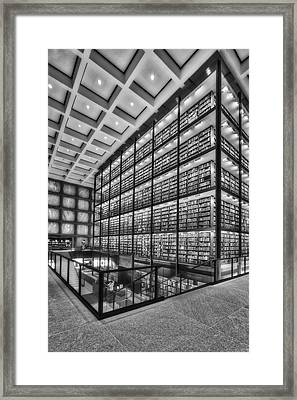 Beinecke Rare Book And Manuscript Library Bw Framed Print