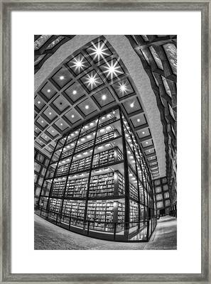 Beinecke Rare Book And Manuscript Library II Bw Framed Print