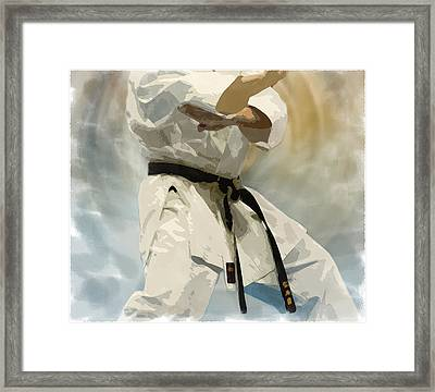 Being A Black Belt Framed Print by Deborah Lee