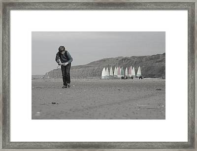 Being A Boy Framed Print by Jez C Self