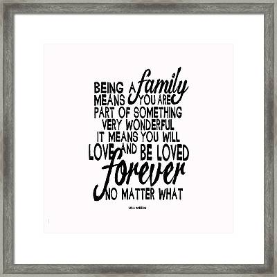 Being A Family Framed Print