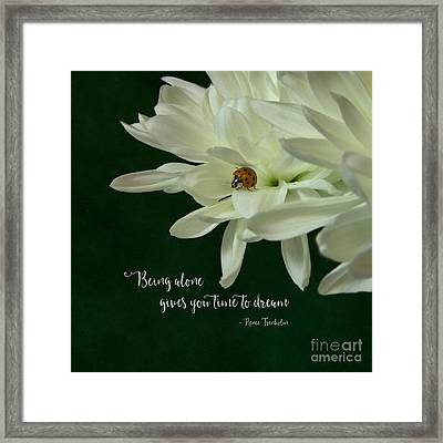 Being Alone Framed Print