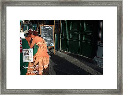 Being Coy Framed Print by Jez C Self