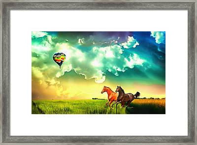 Being Free Framed Print