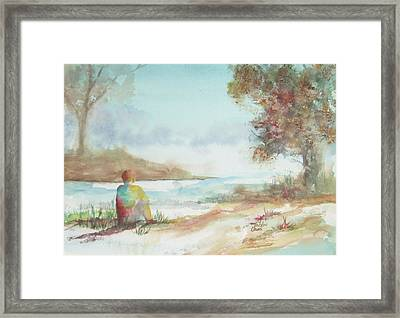 Being Here Framed Print