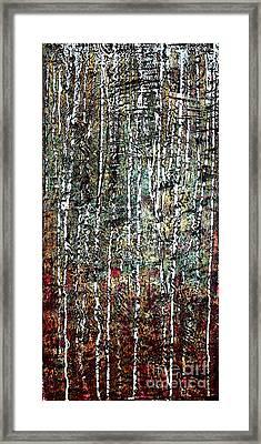 Being In Birch  Framed Print by Nancy TeWinkel Lauren