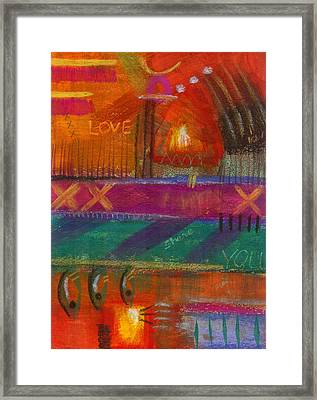 Framed Print featuring the painting Being In Love by Angela L Walker