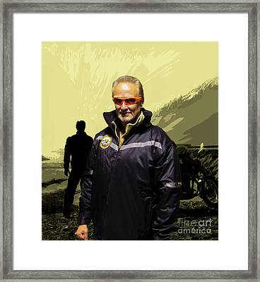 Framed Print featuring the photograph Being In The Movie IIi by Al Bourassa