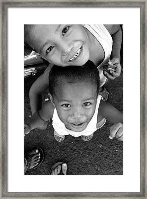 Being Kids 2 Framed Print by Jez C Self