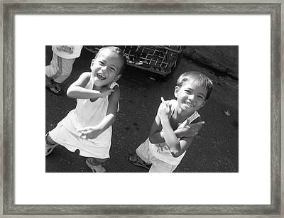 Being Kids 3 Framed Print by Jez C Self