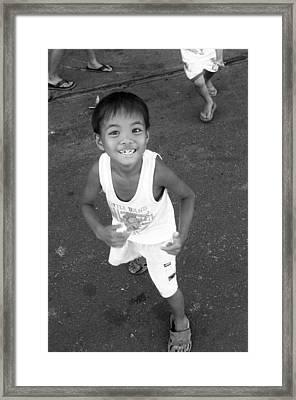 Being Kids 5 Framed Print by Jez C Self