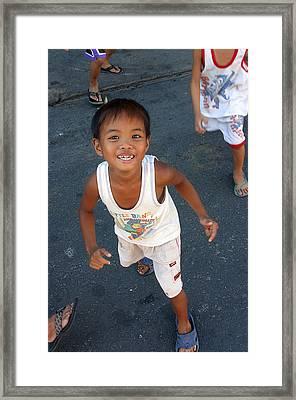 Being Kids 6 Framed Print by Jez C Self