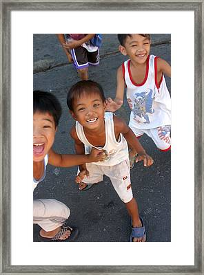 Being Kids 7 Framed Print by Jez C Self