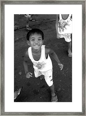 Being Kids 8 Framed Print by Jez C Self