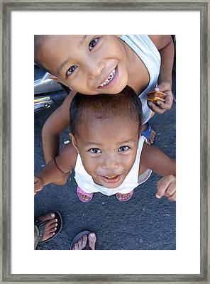 Being Kids Framed Print by Jez C Self