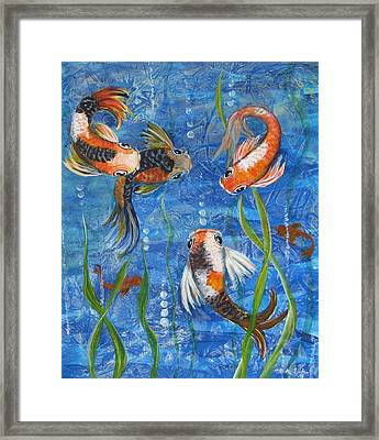 Framed Print featuring the painting Being Koi by Martha Ayotte