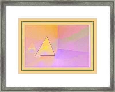 Beings Of Light Portal Framed Print