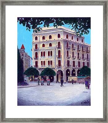Beirut - Centre Ville Framed Print
