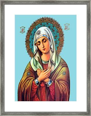 Beit Jala Mary Framed Print by Munir Alawi
