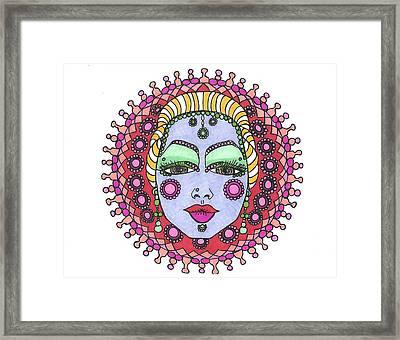 Bejeweled Blond Framed Print